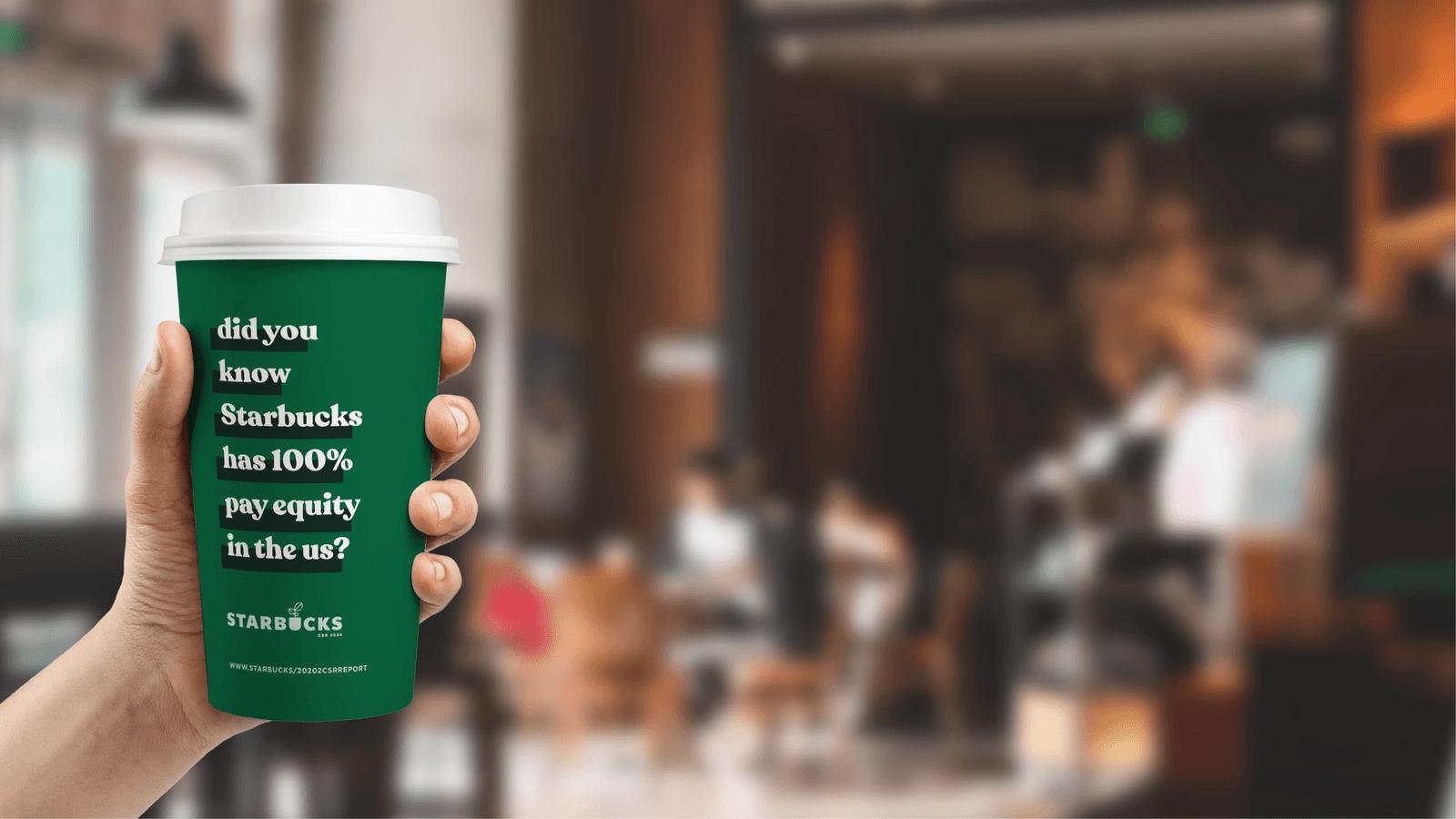 Starbucks CSR Report // In Store Application