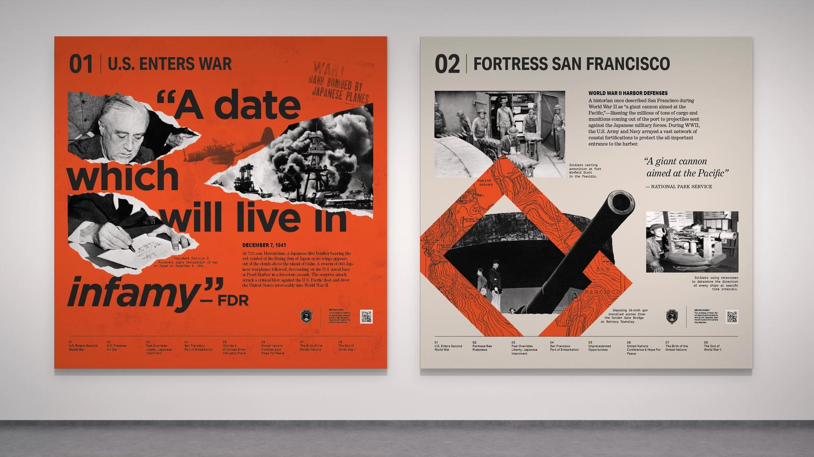 75th Anniversary: End of WWII & Birth of UN // Exhibition Graphics