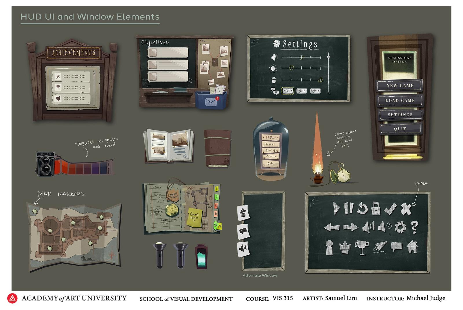 School of Secrets UI Pack 2