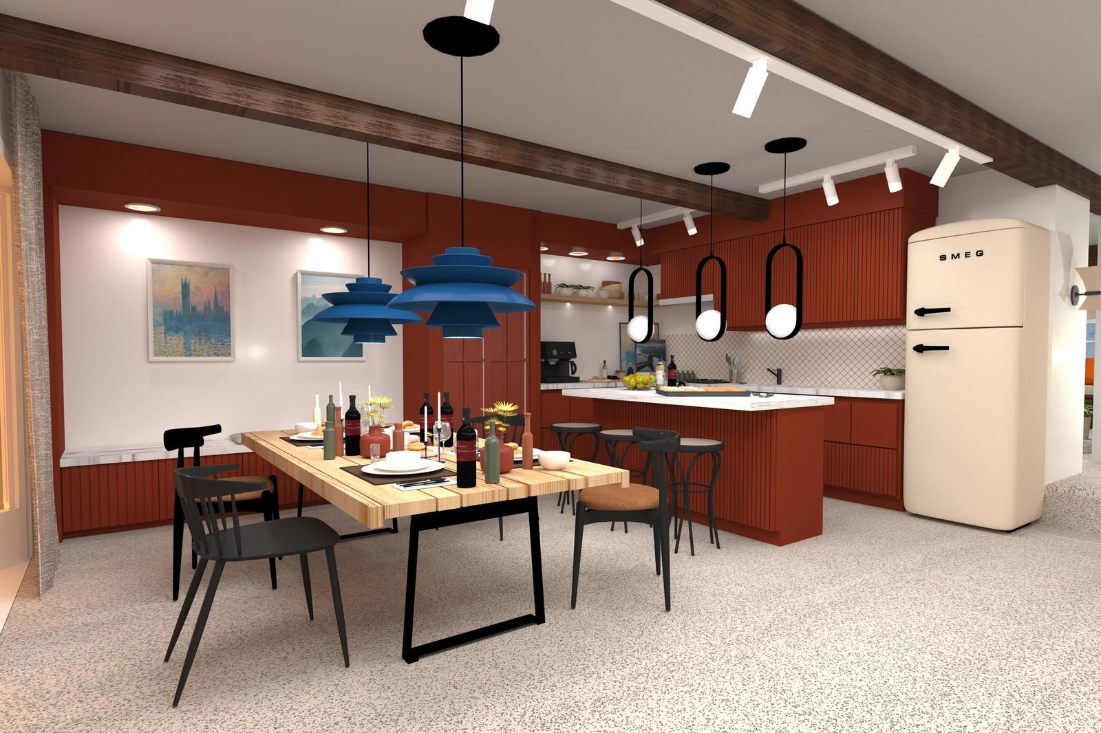 An Artist's Life and Work - Kitchen and Dining area