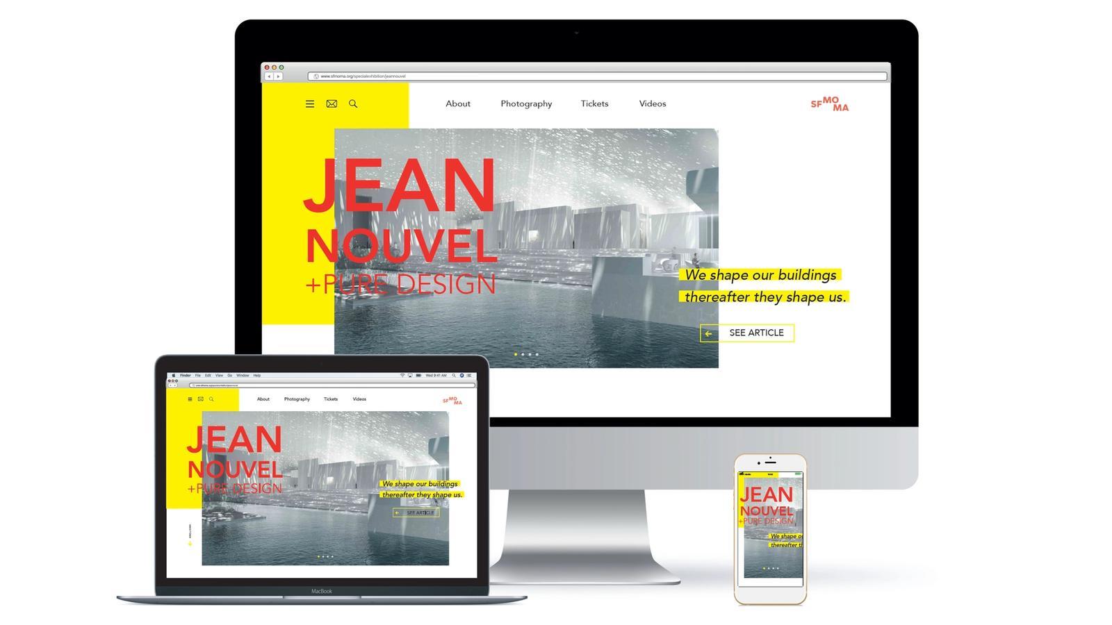Jean Nouvel + Pure Design // Digital Presence