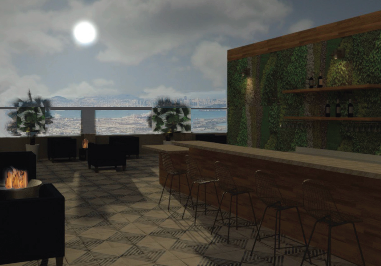 The Town Hotel - Sky Bar- Dusk View