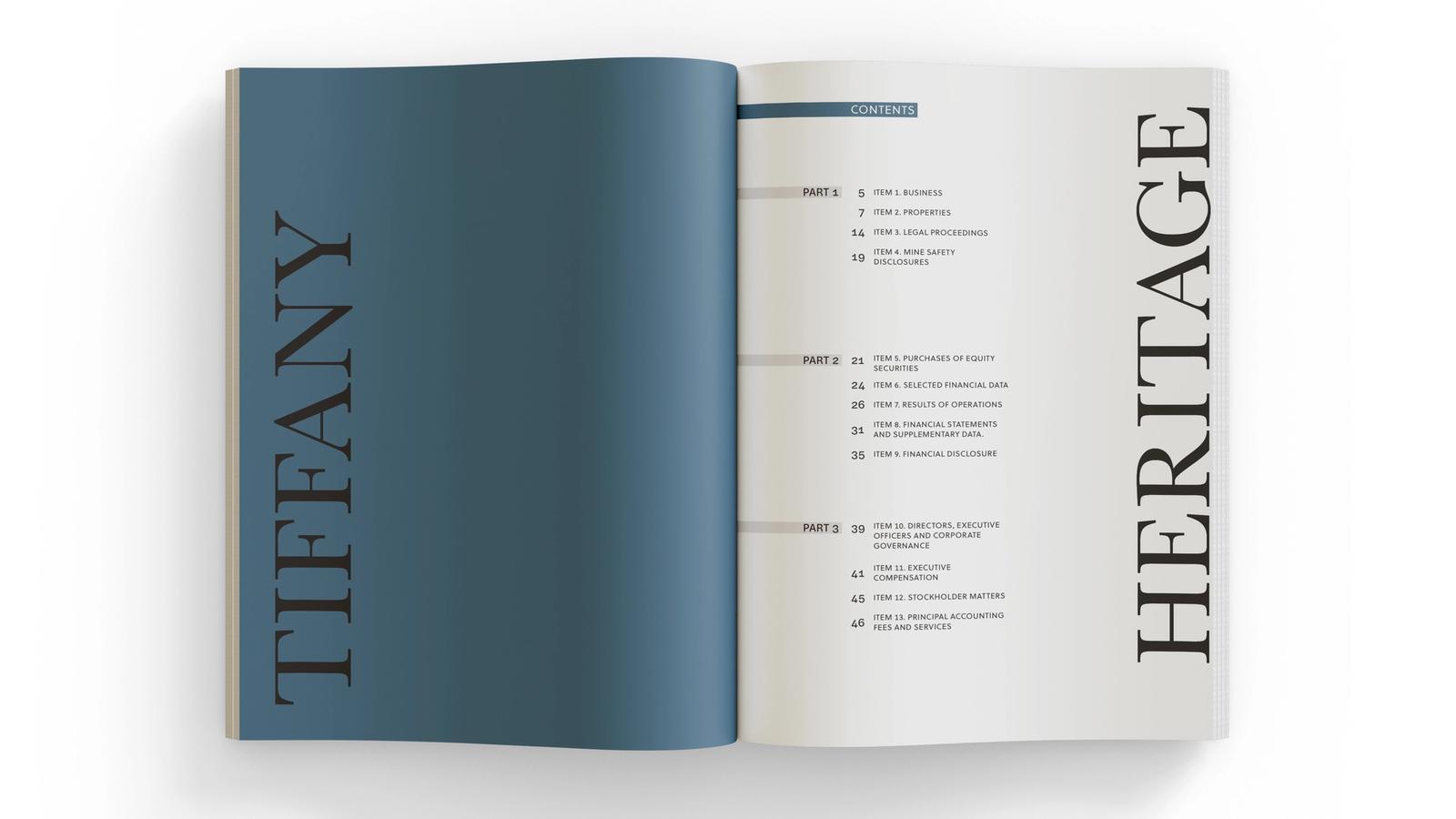 Tiffany // Annual Report