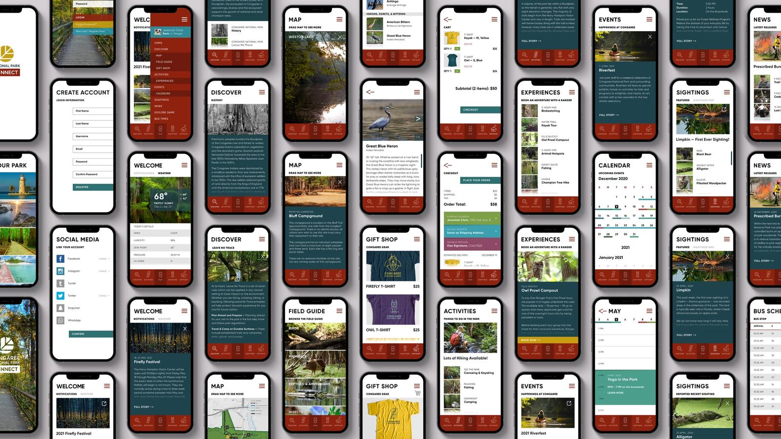 National Park Connect // Mobile App (MFA Thesis Project)