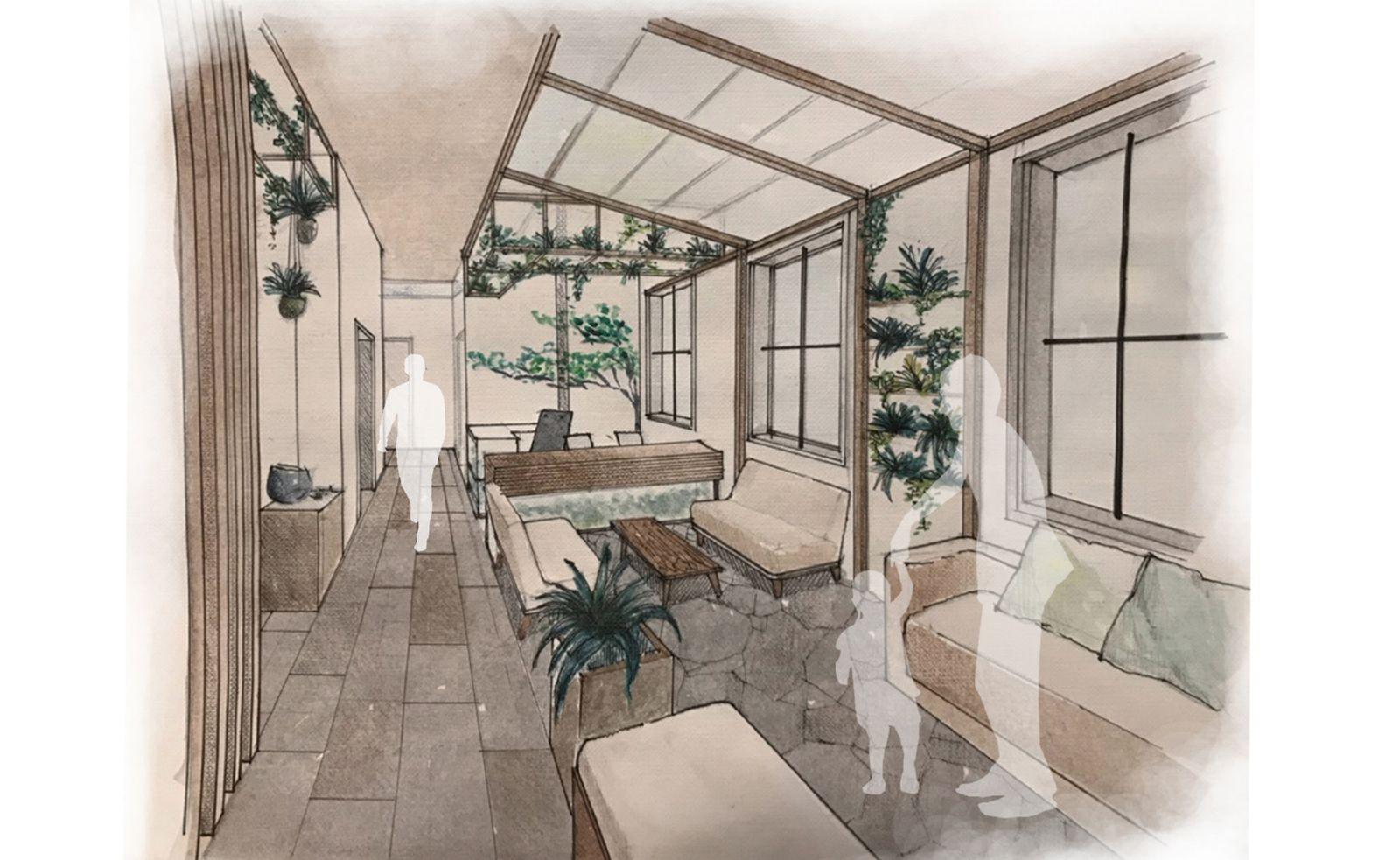 Interior perspective - Reception area