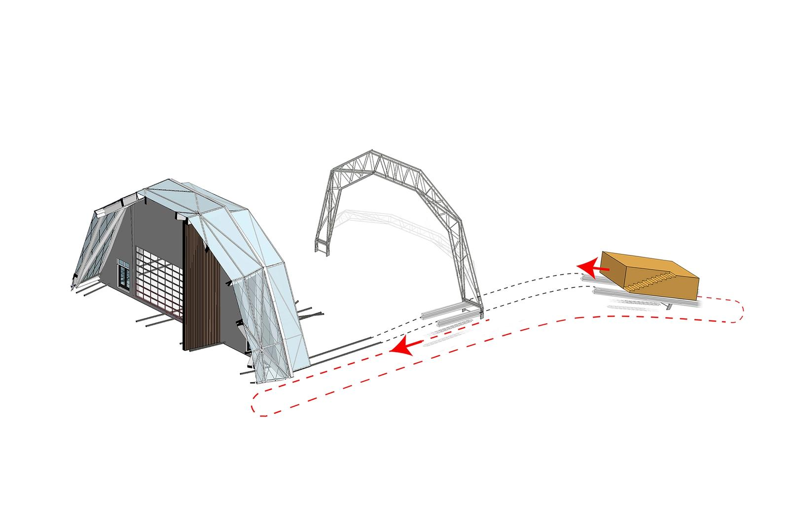 Schematic of Passive Kinetic Flood Mitigation Strategy