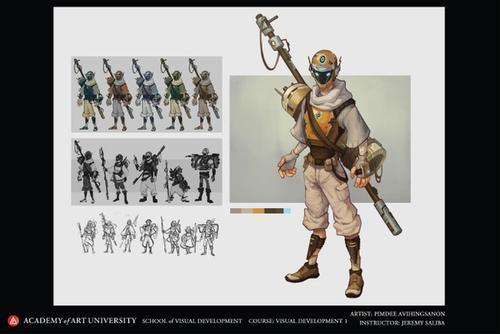 The Traveler: Hero Character Design