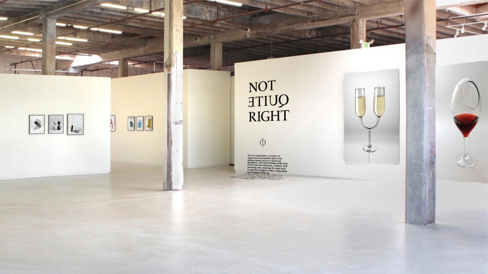 Not Quite Right // exhibition graphics
