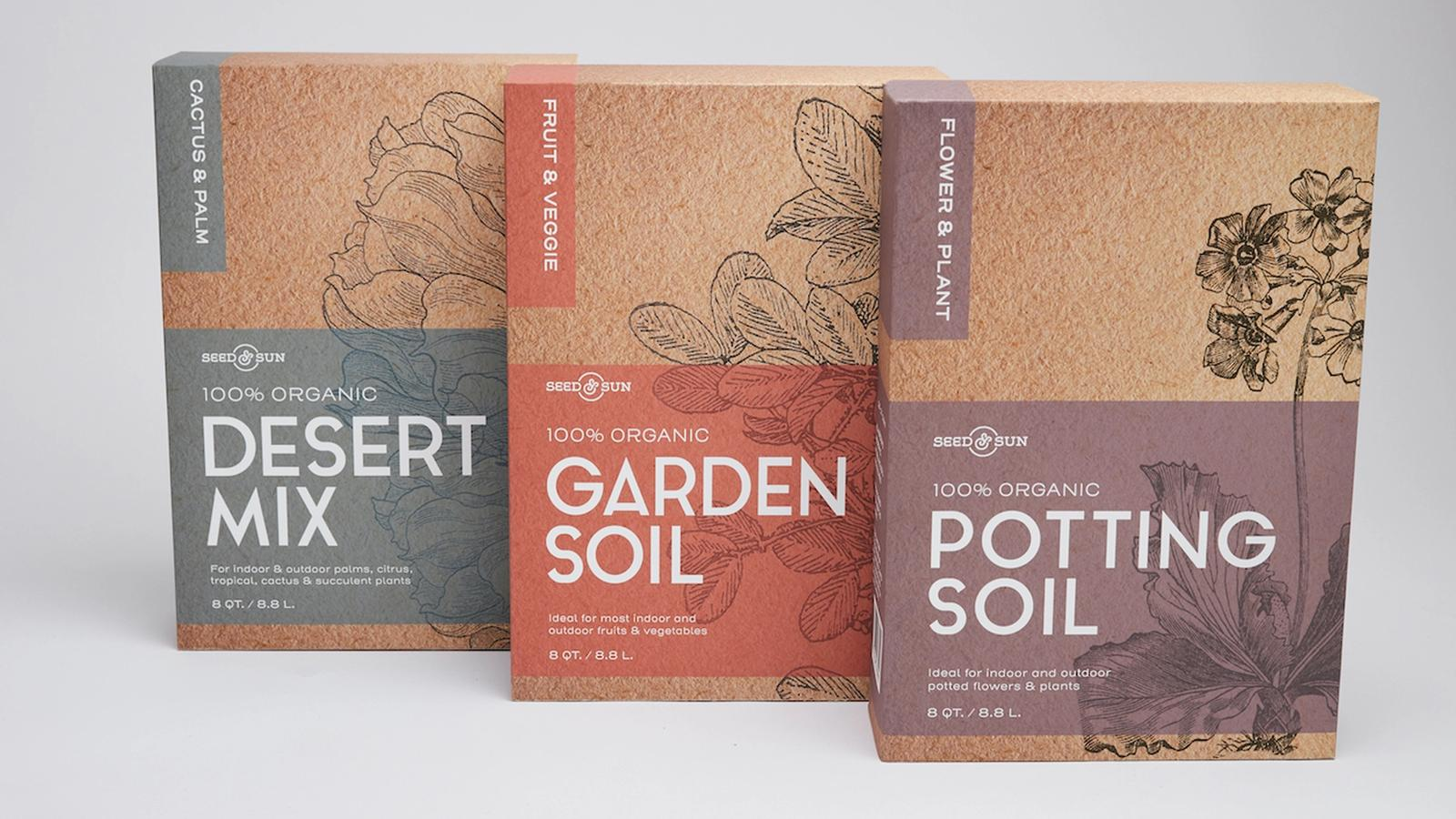 Seed & Sun package design
