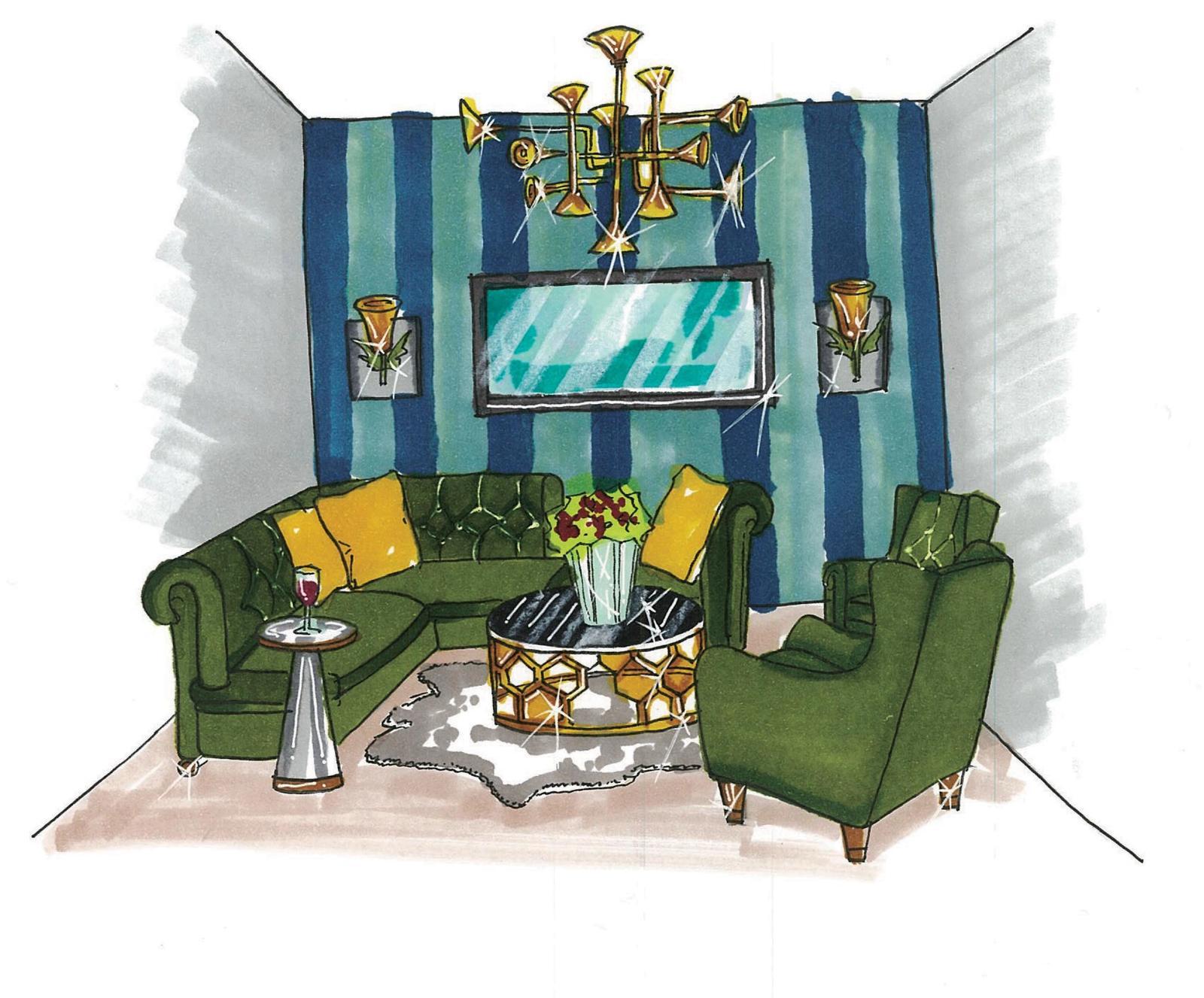3rd Floor Living Room Sketch