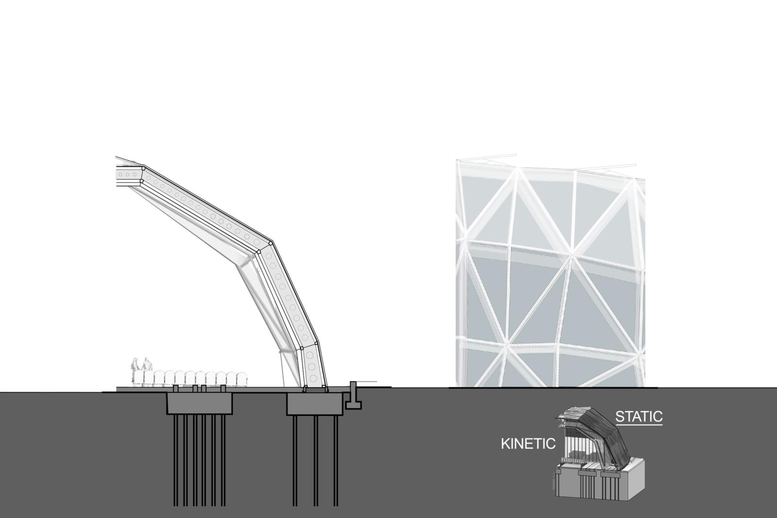 Static Wall Section - Triangulated Steel Frames & Integrated Multi-functional ETFE Modules