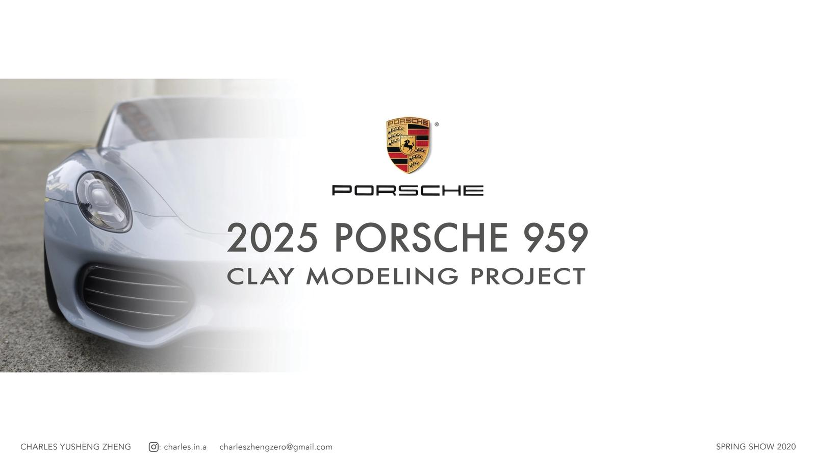 2025 Porsche 959 Concept Clay Modeling Project