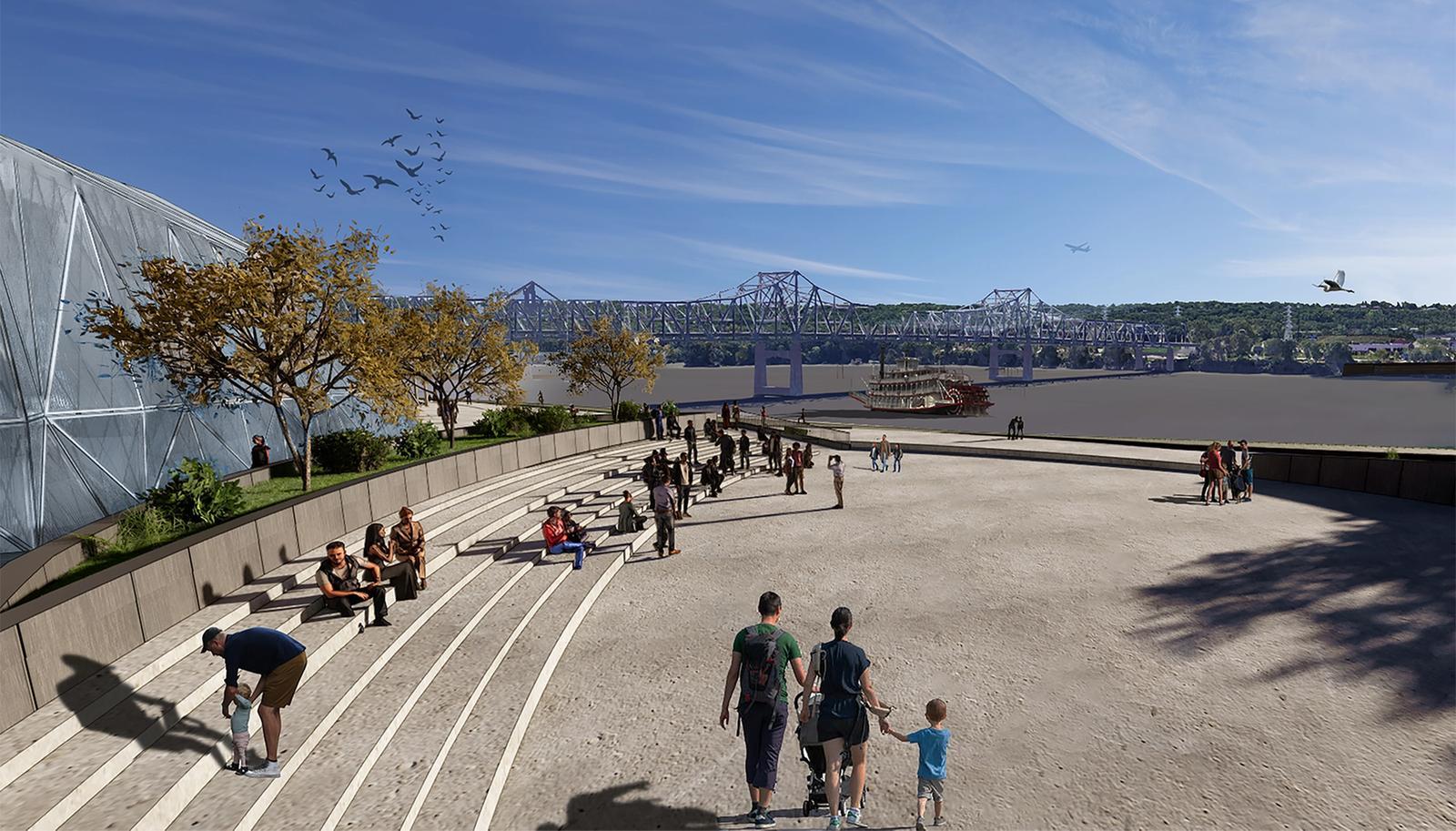 View Toward River at Amphitheater
