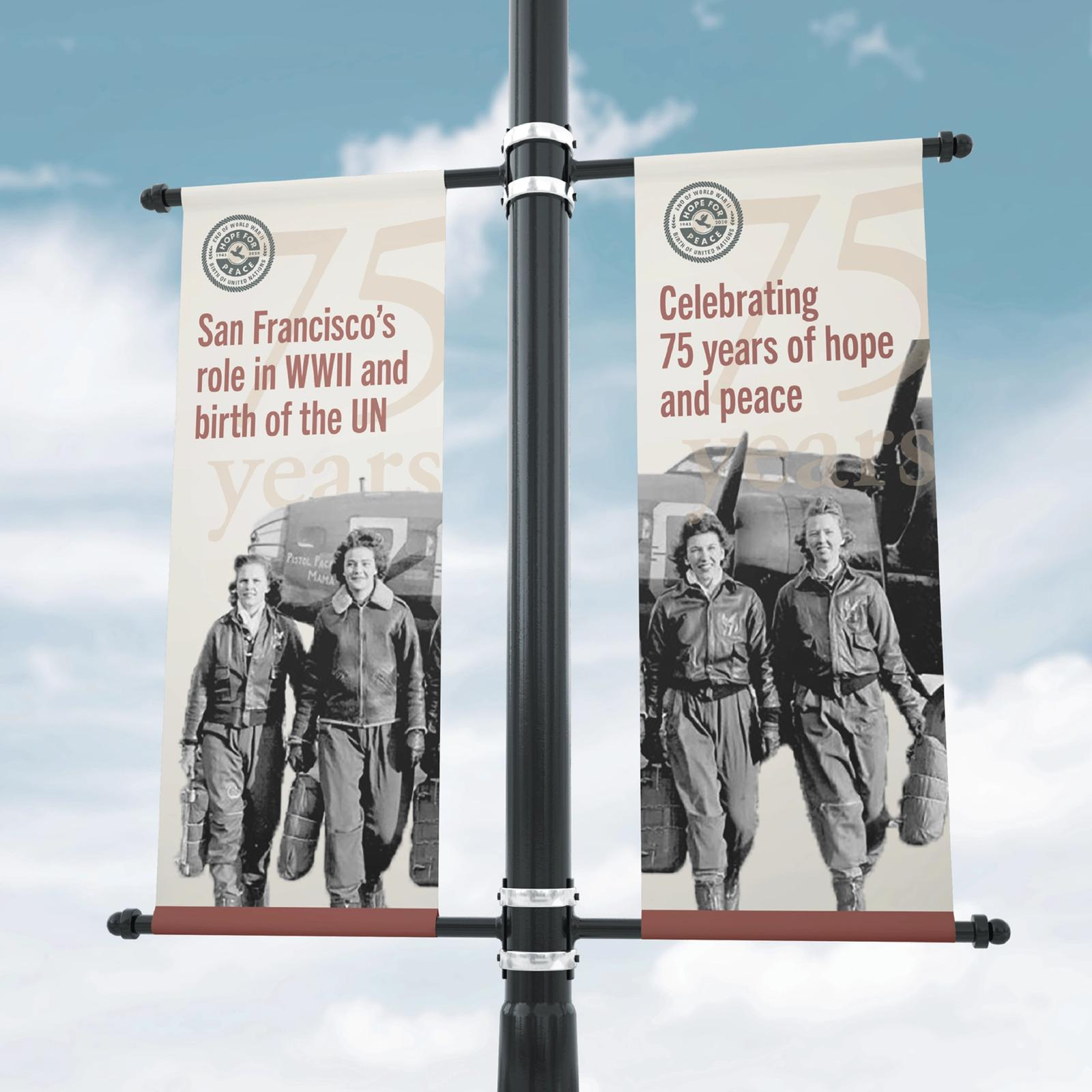 Hope for Peace outdoor advertising
