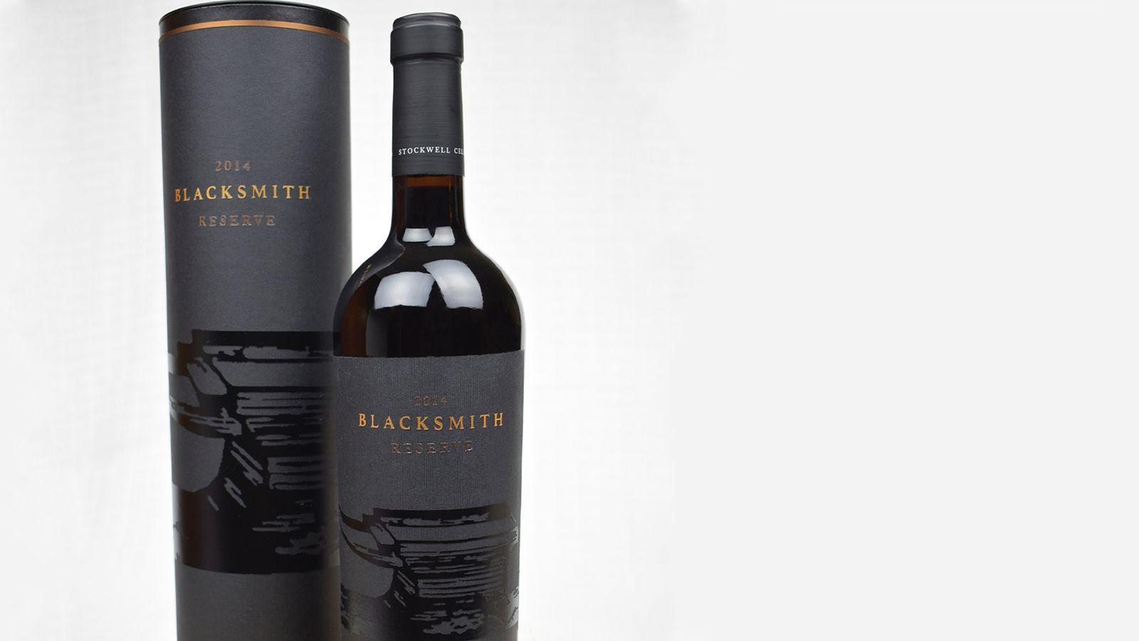 Blacksmith Reserve // wine bottle packaging for Stockwell Cellars