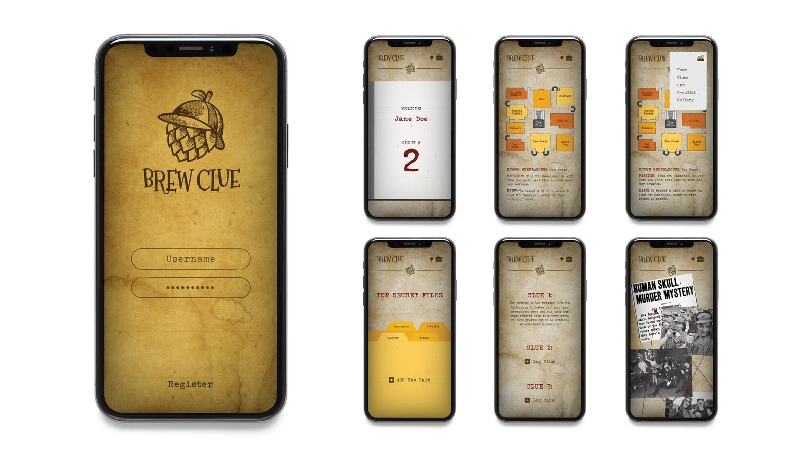 Brew Clue Brew Fest // mobile application