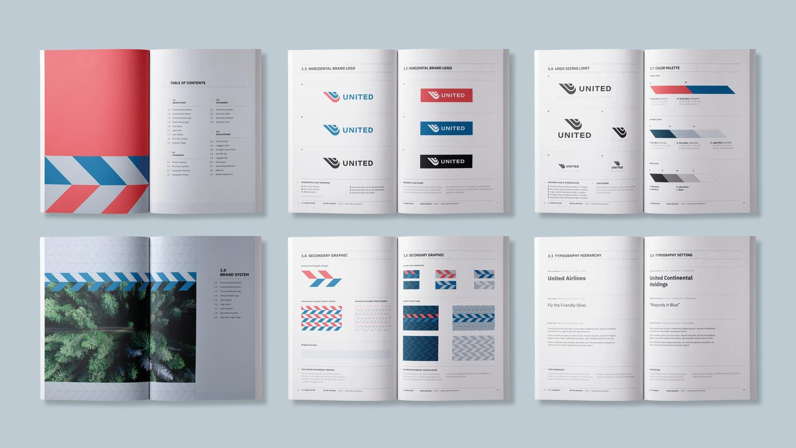 United Airlines // brand standards manual