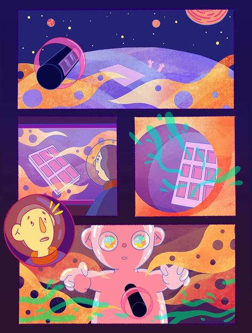 Comic page based on the book