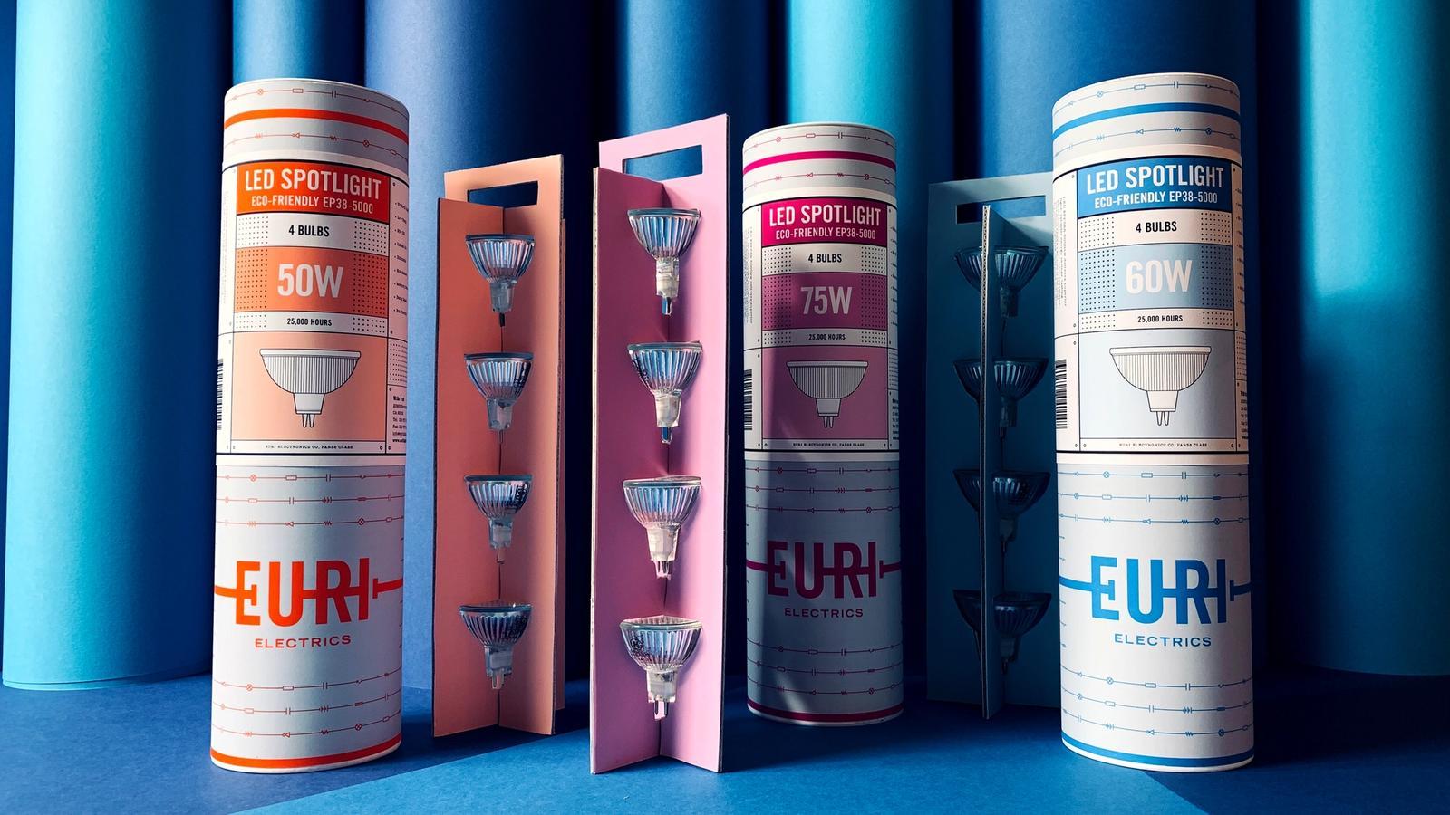 Euri Electrics packaging