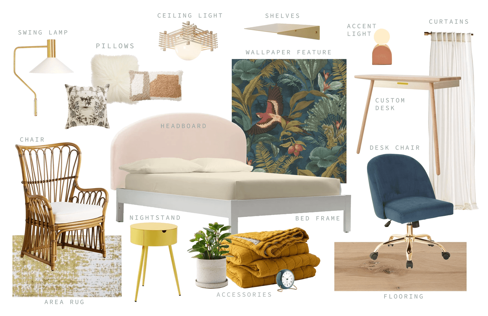 Bedroom Design Board