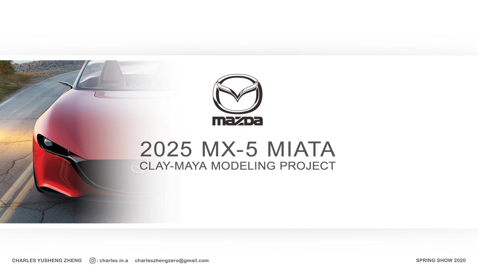 2025 Mazda Miata Concept Clay-Maya Modeling Project