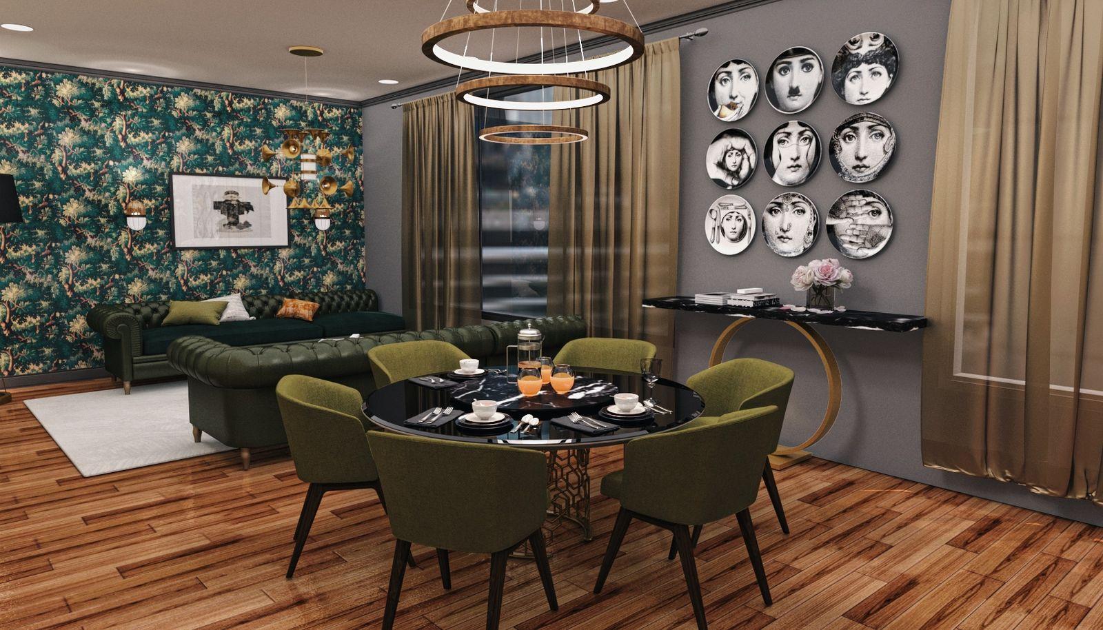 3rd Floor Dining Area Rendering