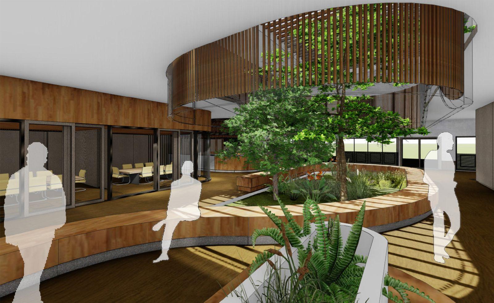 Interior perspective - Atrium area