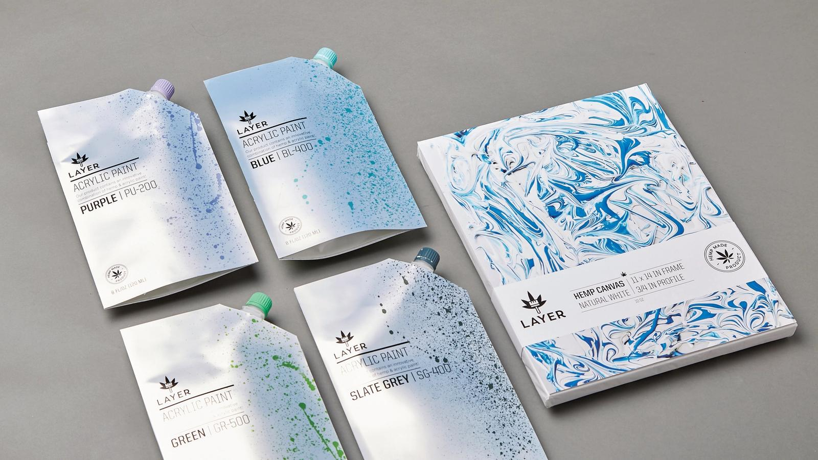 Layer // acrylic paint packaging