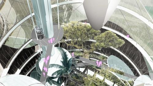 Fan Pan - Interior Rendering of Cooling Tower