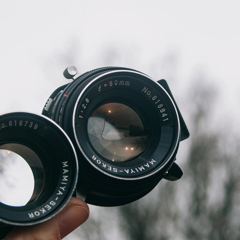 Taking lens of Mamiya-Sekor 80mm f2.8 lens.
