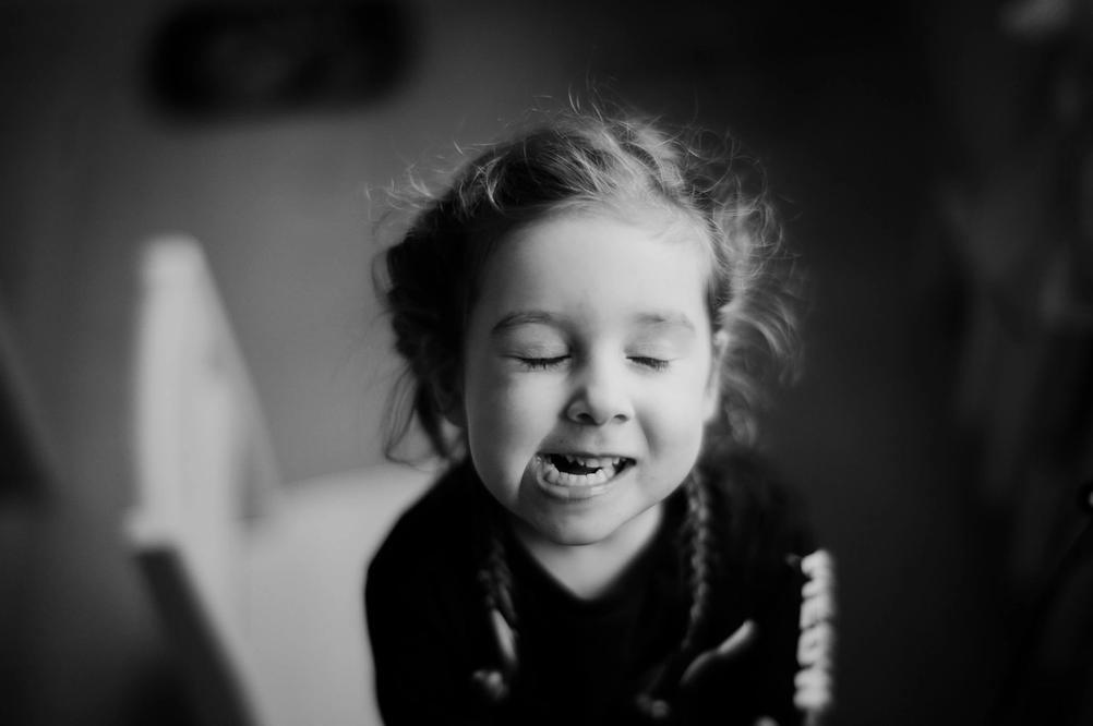 Photo of a three year old girl.