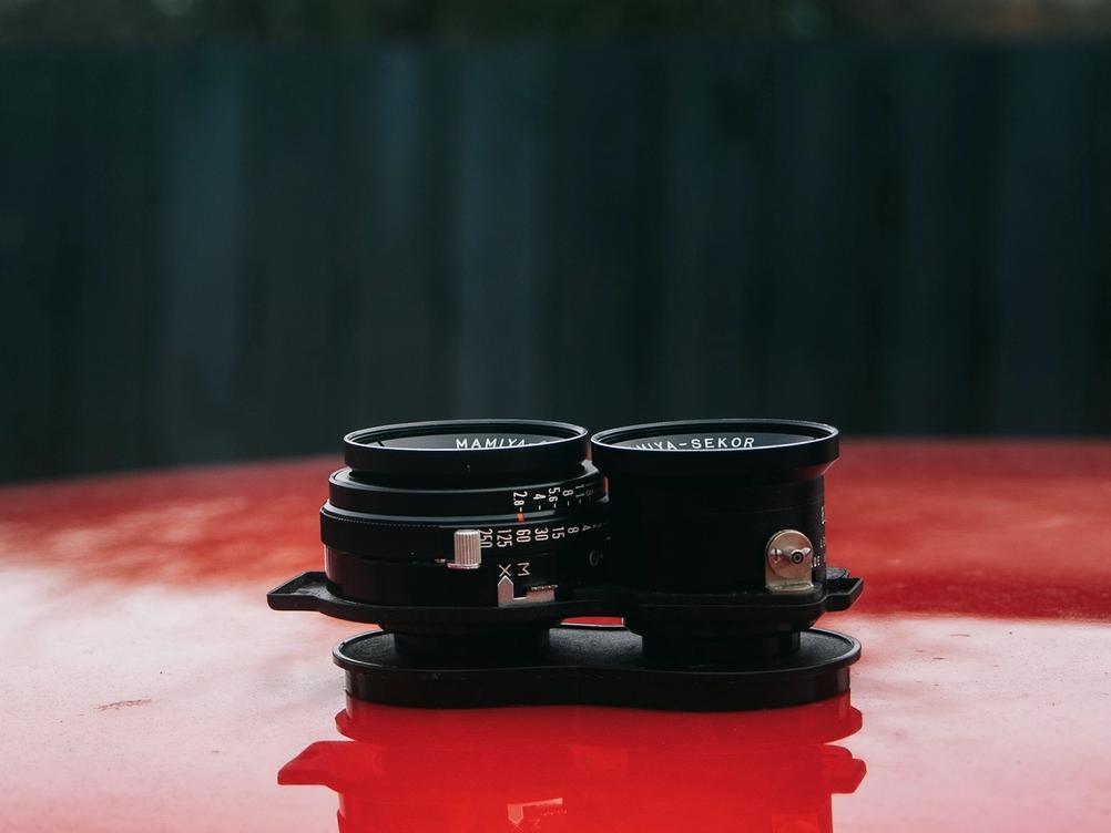 Mamiya-Sekor 80mm f2.8 lens on its own.