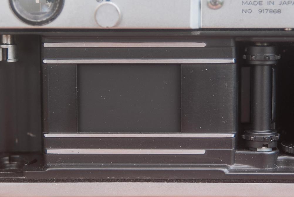 Photo of Canon Model 7 shutter curtain.