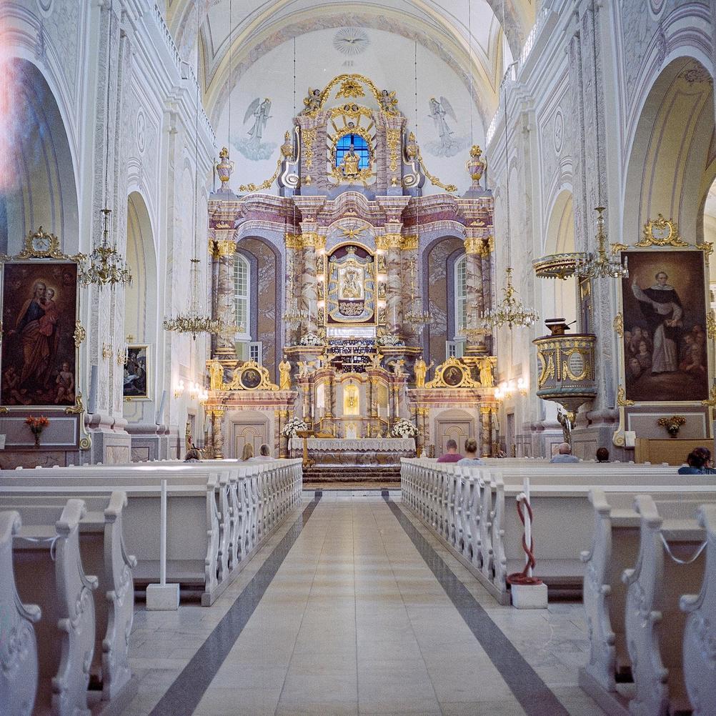 Photo of church interior.