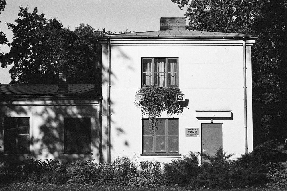 Photo of a white building.