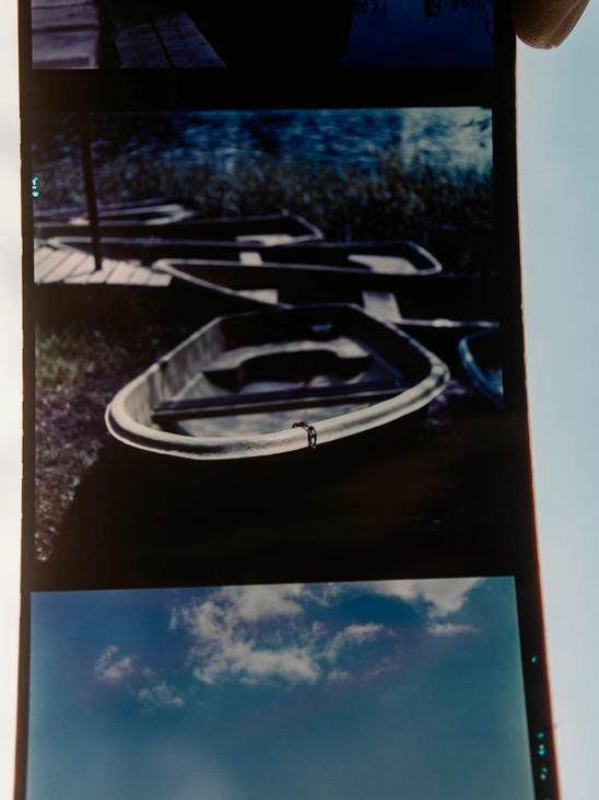 Photo of the Silberra Color 160 film processed as slide film.
