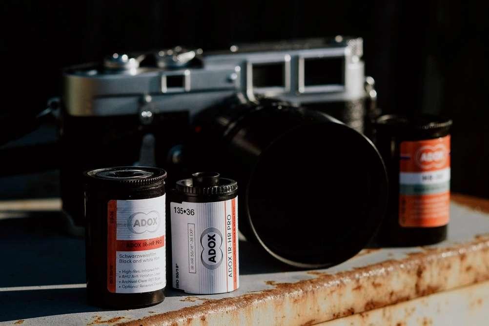 Photo of Adox IR-HR Pro 50 film.