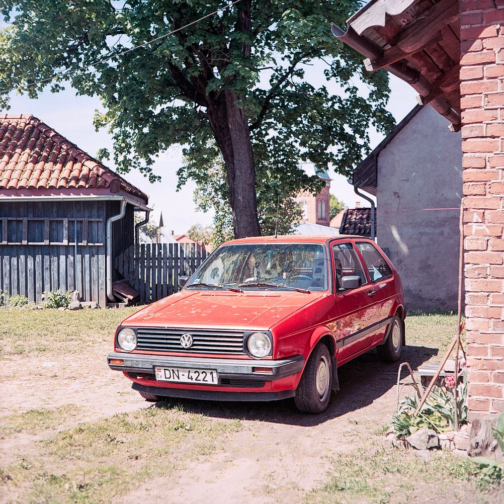 Photo of an old Volkswagen Golf.