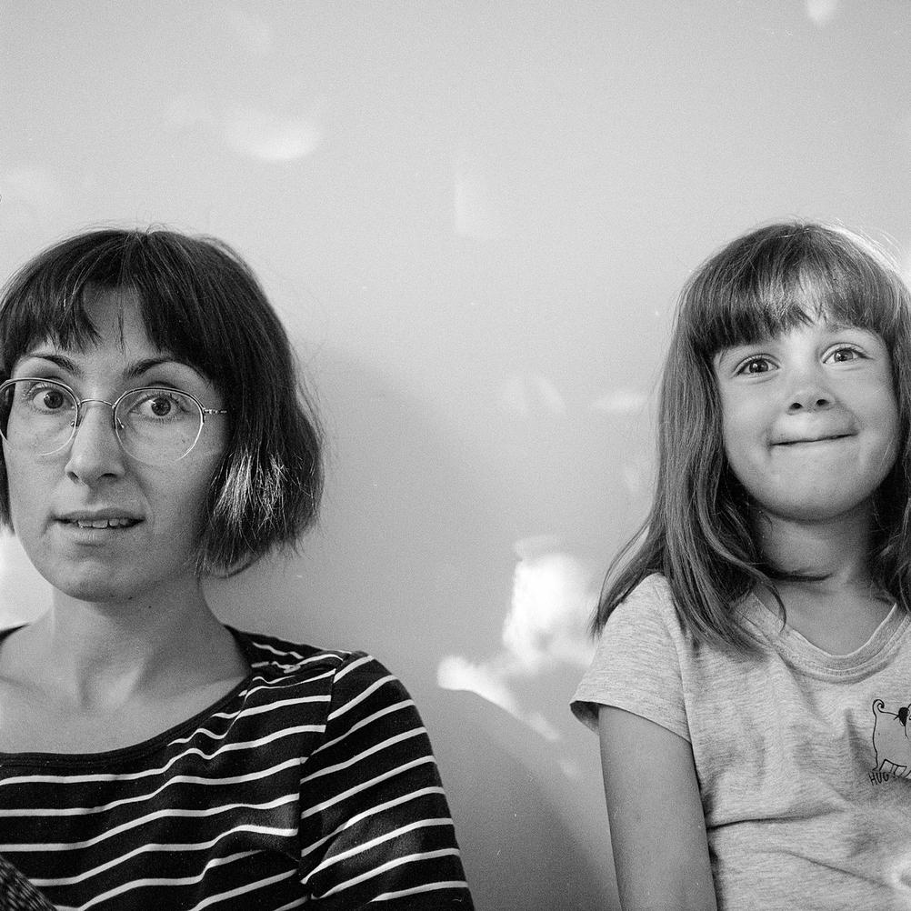 Photo of my wife and daughter.