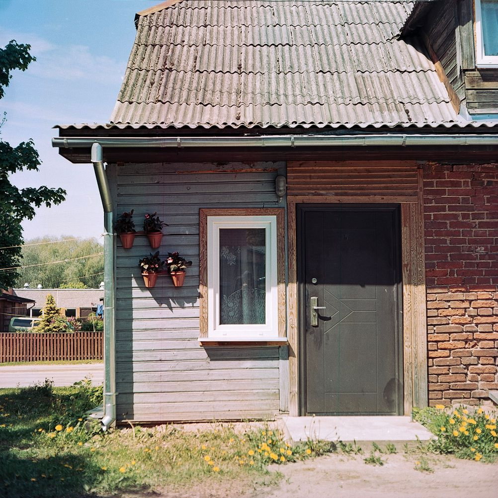 Photo of a door on a house.