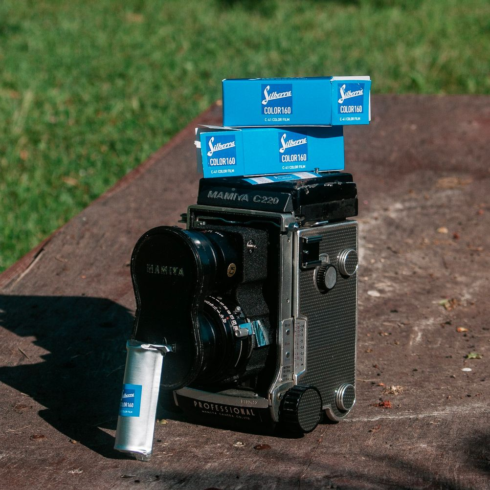 Photo of Mamiya C200 with Silberra Color 160 film.
