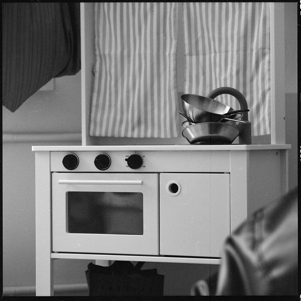 Photo of children's kitchen.