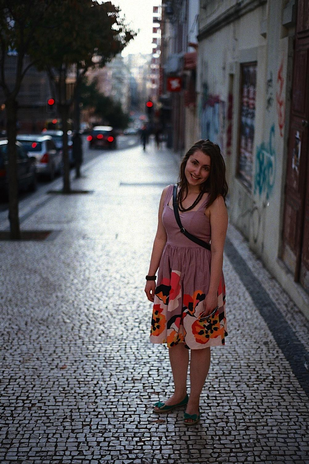 Shot of my wife taken in Portugal.