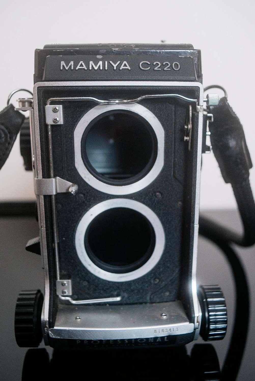 Mamiya C220 camera.