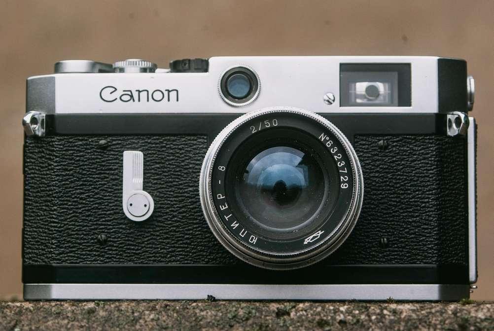 Photo of Jupiter-8 50mm f2 lens on Canon P camera.