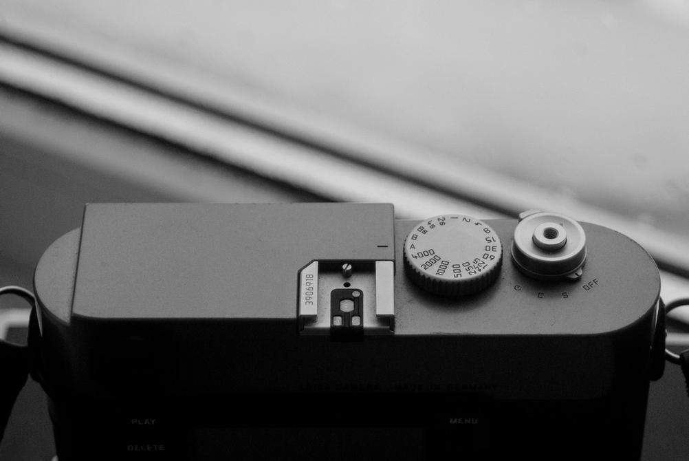 Photo of Leica M9 top plate.
