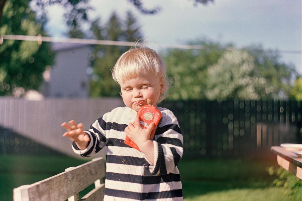 Photo of my son enjoying summer.