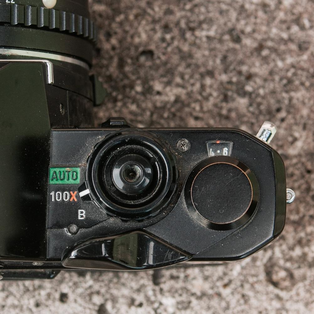 Photo of Pentax MV1 mode dial.