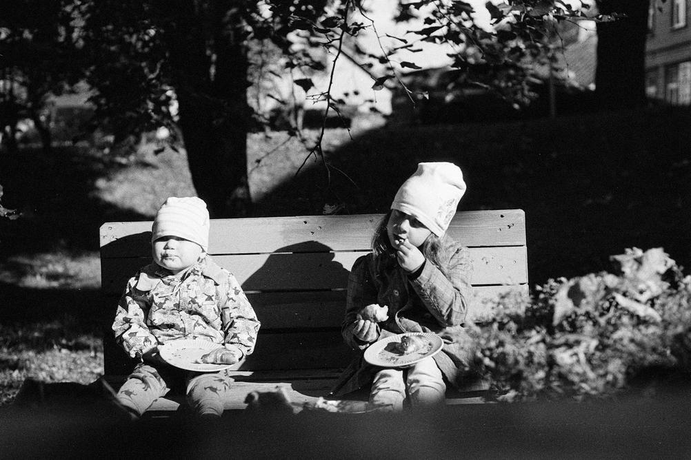 Photo of my children eating.