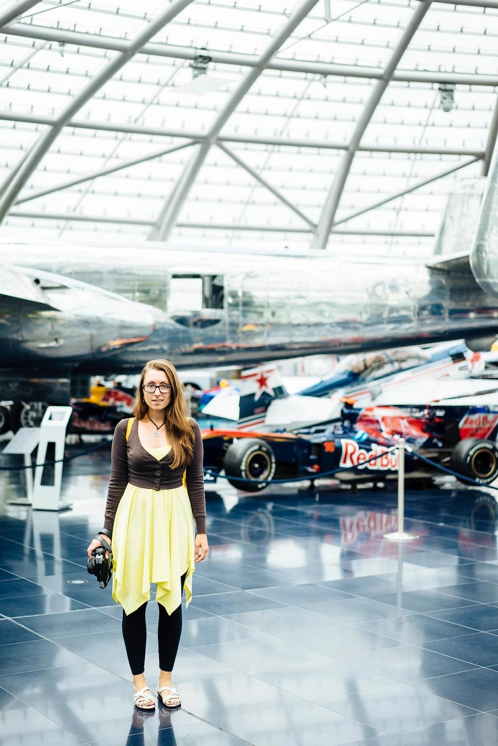 Photo of my wife in RedBull museum.